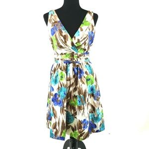 Eliza J Floral Fit and Flare Dress with Pockets